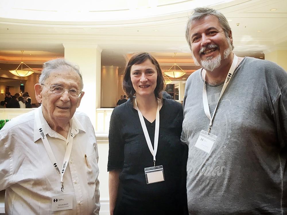 Professor Yehuda Bauer with Nevena Bajalica and Misko Stanisic of Terraforming