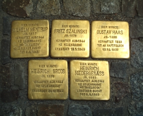 Stolperstein in Osnabrück, Germany. Photo: Roland Mattern