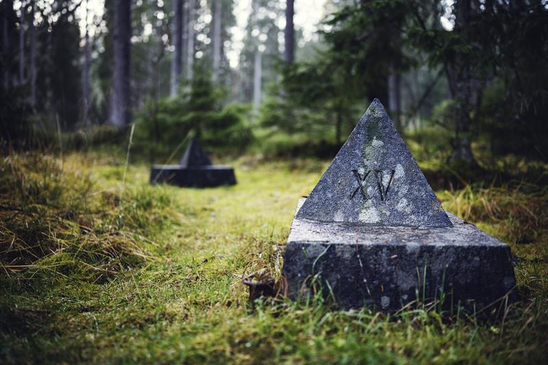 Memorial monuments in the Falstad forest. Photo: Ole Martin Wold